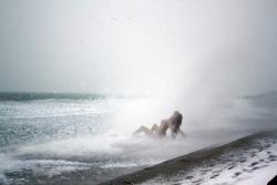Как Маринка к соревнованиям по зимнему плаванию готовилась